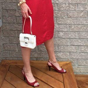 Y2K Guess white mini handbag with short strap